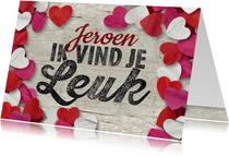 Valentijn confetti hartjes leuk