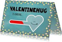 Valentijn hug is loading - blue