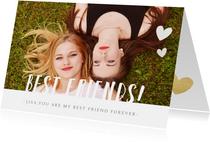 Valentijn vriendschaps kaart met foto - best friends