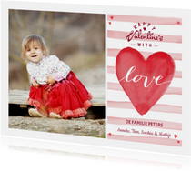 Valentijns Hart Love Strepen