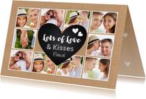 Valentijnskaart collage liefde