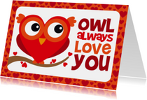 Valentijnskaart grappig uiltje