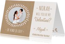Valentijnskaart Kraft Naam Foto