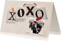 Valentijnskaart krantenknipsels XOXOXO