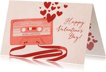Valentijnskaart liefdesliedjes cassettebandje