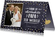 Valentijnskaart met foto voor de leukste papa ter wereld