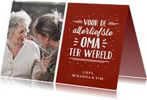 Valentijnskaart met foto voor de liefste oma ter wereld
