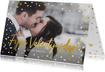 Valentijnskaart met grote foto en tekst fijne valentijnsdag