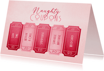 Valentijnskaart naughty coupons uitknipbaar