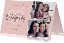 Valentijnskaart persoonlijk foto's hartjes mama oma