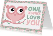 Valentijnskaart uiltje grappig
