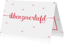 Valentijnskaart zo verliefd