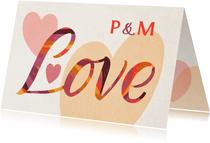Valentinskarte Love Lettering & Initialen