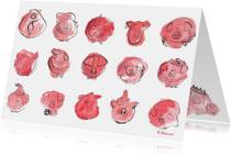 Dierenkaarten - Varkens