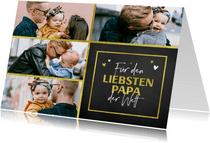Vatertag Fotokarte vier Fotos