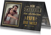 Vatertagskarte Kreidelook mit Foto