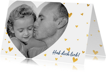 Vatertagskarte mit Foto und Herzchen