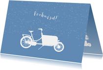 Verhuiskaart bakfiets en kerstboom