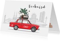 Verhuiskaart Daf met Eindhoven