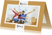 Verhuiskaart foto achtergrondkleur aanpasbaar - OT