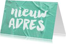 Verhuiskaart Nieuw Adres verf klussen