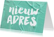 Verhuiskaart Nieuw Adres verf