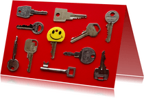 Verhuiskaart nieuwe sleutel
