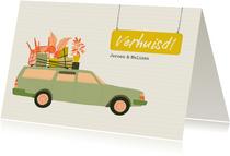 Verhuiskaart - Oldtimer met inboedel