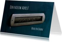verhuiskaart vintage brievenbus