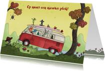 Felicitatiekaarten - Verhuiskaart vrolijke bus