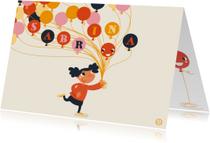 Verjaardagskaarten - Verjaardag ballon , feest, NK