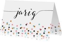 Verjaardag confetti kalligrafie