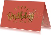 Verjaardag felicitatie wenskaart - kleur aanpasbaar