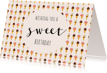 Verjaardagskaarten - Verjaardag Icecream  - SV