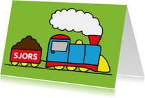 Verjaardagskaarten - verjaardag jongen trein