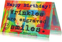 Verjaardag keep on smiling  IW