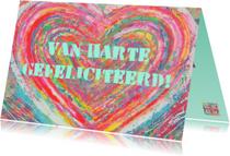 Verjaardag kleurrijk hart IW