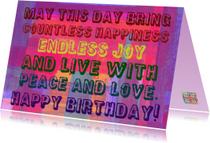 Verjaardag live with peace IW