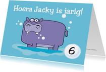 Verjaardag nijlpaard kaart
