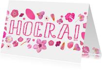 Verjaardag roze bloemen