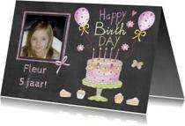 verjaardag taartje vijf jaar
