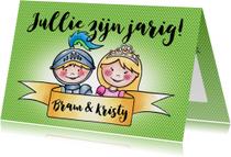 Verjaardag tweeling - ridder en prinses EM