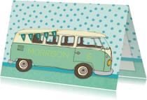 Verjaardag vintage busje