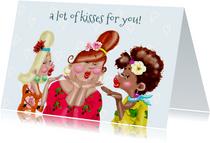 Verjaardagskaart A lot of kisses