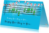 Verjaardagskaarten - Verjaardagskaart Biermuziek PA