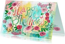 Verjaardagskaart bijzonder bloemen