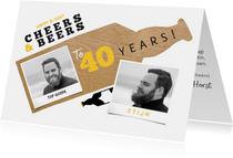 Verjaardagskaart Cheers & Beers to years met foto's