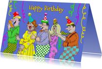 Verjaardagskaarten - Verjaardagskaart de polonaise