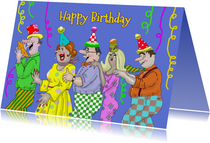 Verjaardagskaart de polonaise