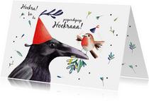 Verjaardagskaart felicitatie met mooie illustratie